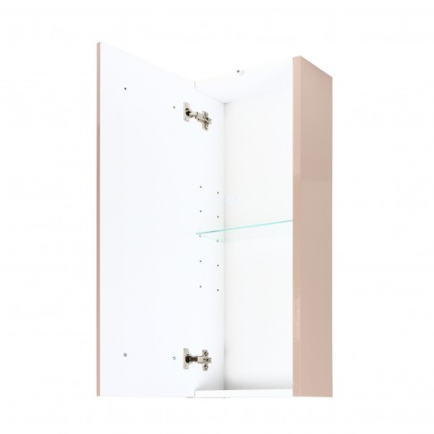 Dulap baie suspendat, Porto 405-CP2, 1 usa, cappuccino, 30 x 158 x 30 cm