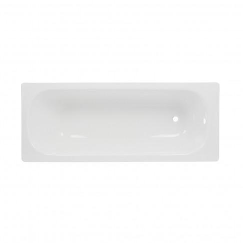 Cada baie rectangulara, tabla, Smavit Cassia, antialunecare, 150 x 70 cm