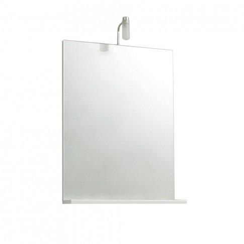 Oglinda baie Savini Due 6602, cu iluminare, 52 x 69 cm, 1 etajera