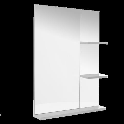 Oglinda baie cu polite, Martplast Larissa, alb, 60 x 11 x 80 cm