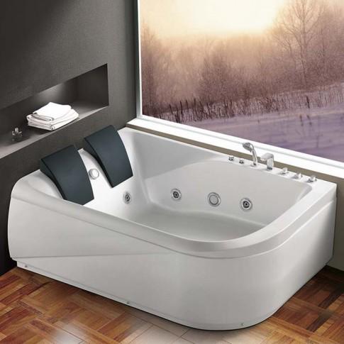 Cada baie cu hidromasaj, asimetrica, pe colt, montaj pe stanga, K1215, 180 x 133 cm
