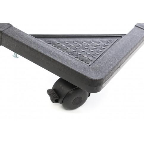 Suport aragaz / frigider / masina de spalat, SerEnd BT 02, reglabil, latime 38 - 60 cm, lungime 48 - 70 cm, 100 kg, cu rotile, negru