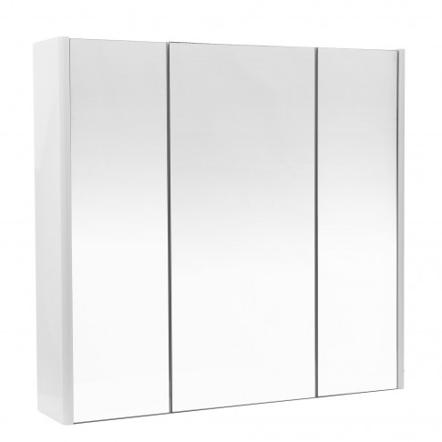Dulap baie cu oglinda, 3 usi, Arthema Vela  503 - DDM - A2, alb, 75 x 15 x 70 cm