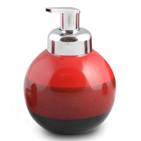 Dozator sapun lichid Reds AWD02190985, ceramica, rosu / negru, 580 ml