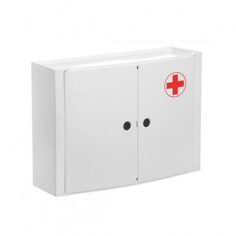 Dulap baie suspendat Romtatay S4480209, pentru medicamente, polipropilena, alb, 2 usi, 46 x 13 x 32 cm