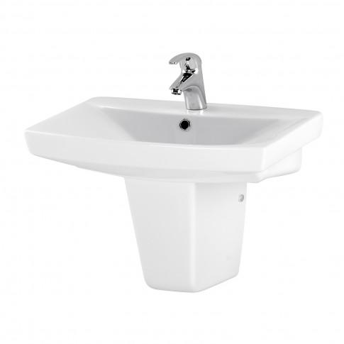 Lavoar Cersanit Carina K31 - 006, alb, dreptunghiular, 60 cm