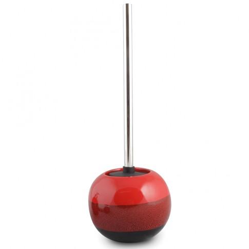Perie WC  Reds AWD02190989, ceramica, rosu + negru, 16 x 30 x 16.5 cm