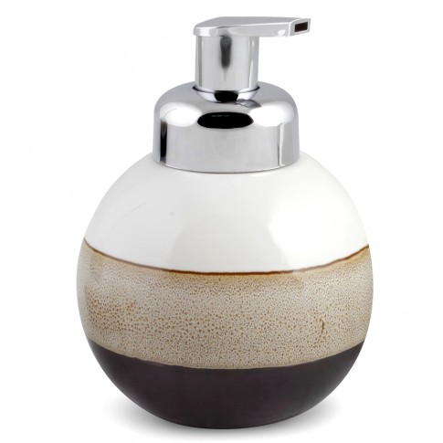 Dozator sapun lichid Mocca AWD02190980, ceramica, alb / bej / negru, 580 ml