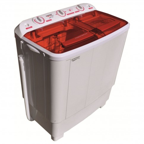 Masina de spalat rufe semiautomata Albatros WMS 7.2R, 50 litri, spalare 6.8 kg, stoarcere 5.5 kg, alb cu rosu