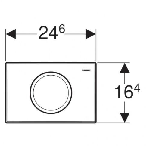 Placa actionare apa WC, Geberit Delta 11 115.120.21.1, finisaj cromat