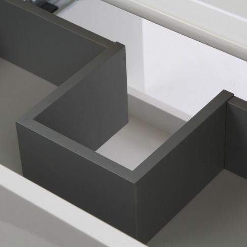 Masca baie + lavoar Roca Cube, cu sertare, alb, suspendat, 65 x 55 x 43 cm