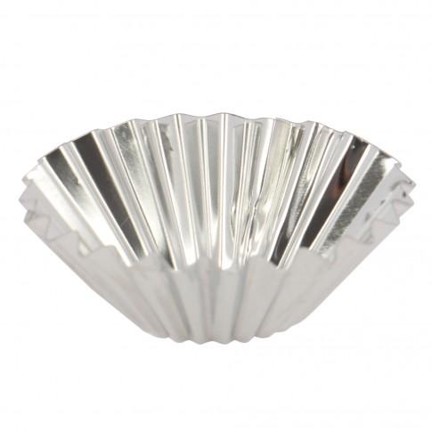 Forma pentru cake cup AB25, set 10 bucati, metal, 4.5 cm