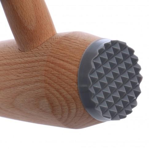 Ciocan rotund pentru snitel, lemn, AB70, 30 x 4 x 10.5 cm