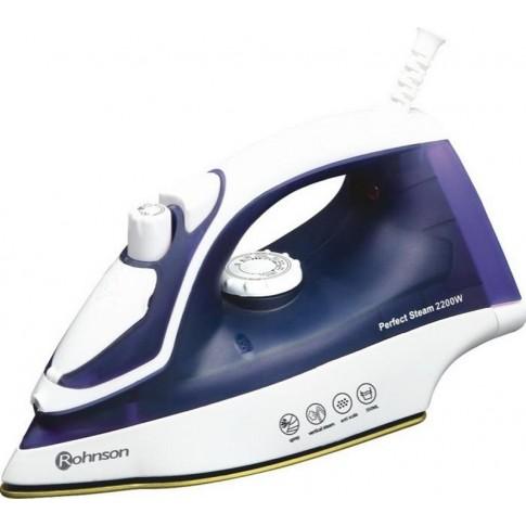 Fier de calcat Rohnson R331, 2200 W, talpa ceramica, 0.35 l, 70 g/min, sistem auto-curatare, alb cu mov