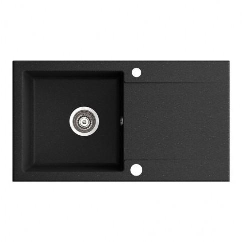 Chiuveta bucatarie compozit magranit Paxton neagra cuva stanga / dreapta 78 x 43.5 cm