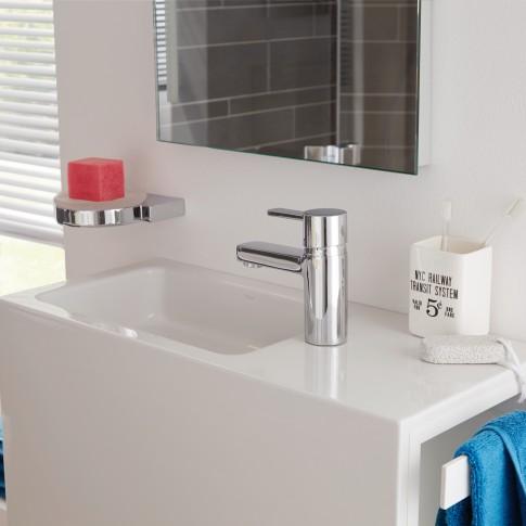 Baterie baie pentru lavoar, Kludi Zenta 382510575, montaj stativ, monocomanda, finisaj cromat