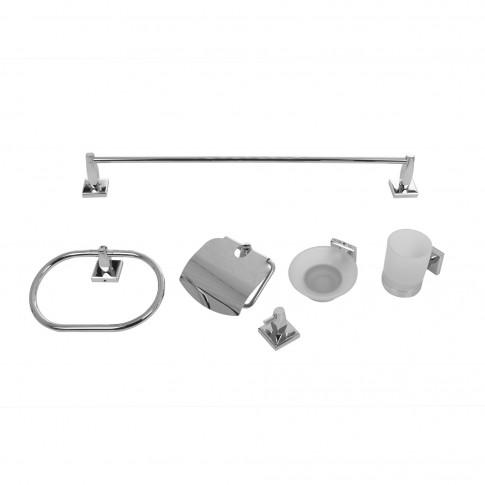 Set accesorii pentru baie, Kadda Shara Y2500, cromat, 6 piese