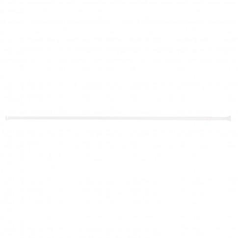 Bara perdea dus, telescopica / extensibila, aluminiu, alba, 34027, 125 / 220 cm
