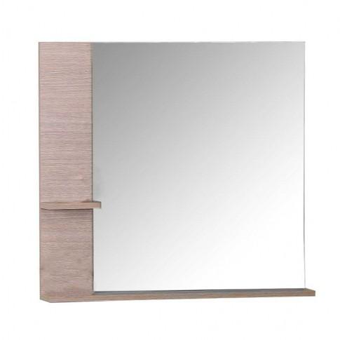 Oglinda baie Arthema Argos 80, 72 x 71.6 cm, 2 etajere