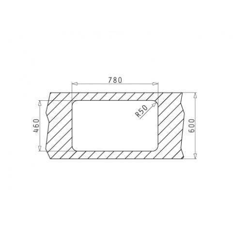 Chiuveta bucatarie inox leinen Pyramis Space Mini cuva pe dreapta 80 x 48 cm