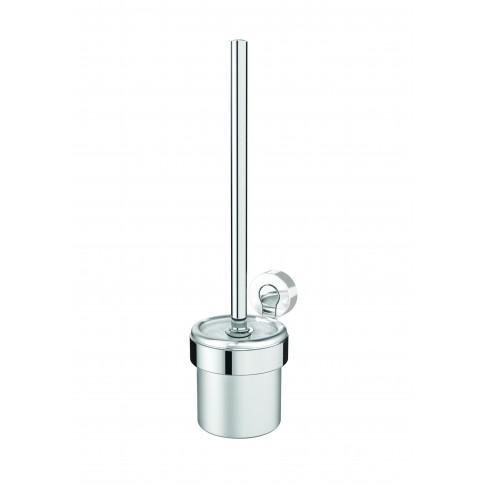 Perie WC Bisk Ventura 05303, suspendat, zinc aluminiu, 9.8 x 37.3 x 13 cm