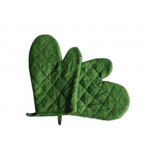 Manusa bucatarie 060371, set 2 bucati, bumbac, verde, 25.4 x 19 cm