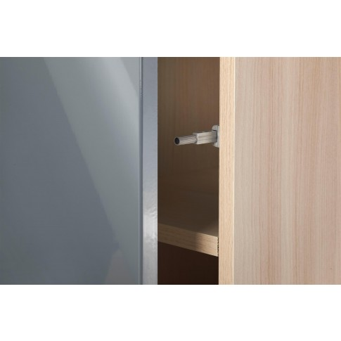 Dulap baie suspendat, Cersanit Smart S568-006, 1 usa, alb, deschidere Push, 170 x 42 cm