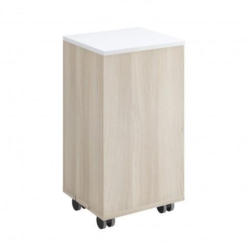 Cos pentru rufe, Cersanit S568-004, frasin / alb, 65.5 x 35 cm