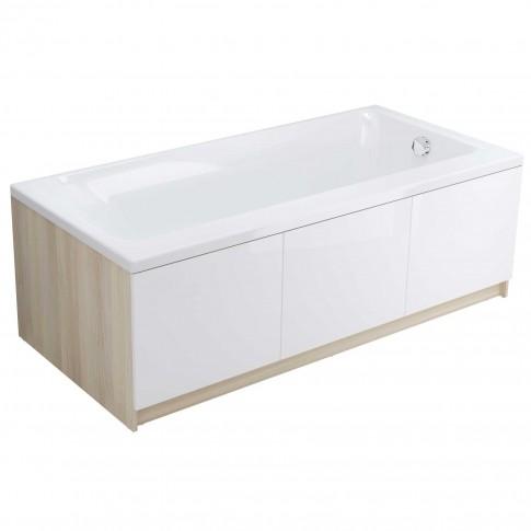 Cada baie rectangulara Cersanit Smart S301-117, acril, montaj stanga, 170 x 80 cm