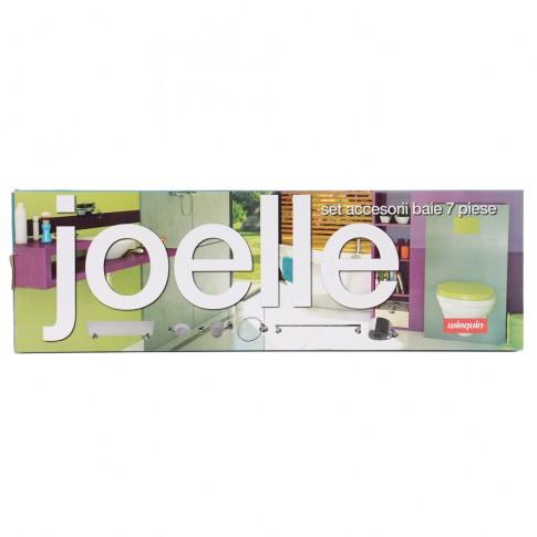 Set accesorii pentru baie, Wirquin Joelle 60720367, cromat, 7 piese