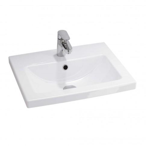 Lavoar Cersanit Como K32 - 002 -BOX, alb, dreptunghiular, 50 cm