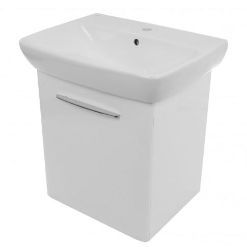 Masca baie + lavoar Kolo Nova Pro M39006, cu usa, alb, suspendat, 60 x 46 x 64.9 cm