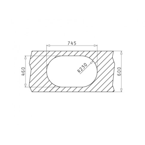 Chiuveta bucatarie inox leinen Pyramis SR Mini cuva pe dreapta 76.5 x 48 cm