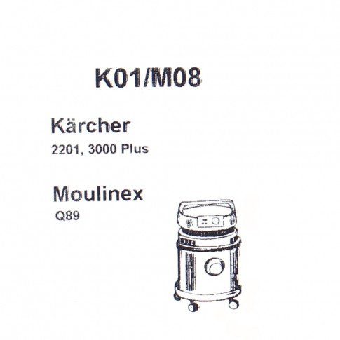 Saci aspirator Karcher 2201, hartie, pachet 5 bucati