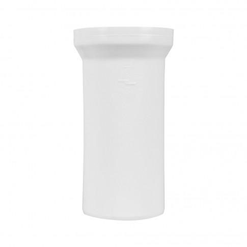 Racord WC rigid, drept, Eurociere, D - 110 mm, 400 mm lungime