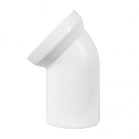 Racord WC rigid, Eurociere, cot la 45 grade, D - 110, 138 mm lungime