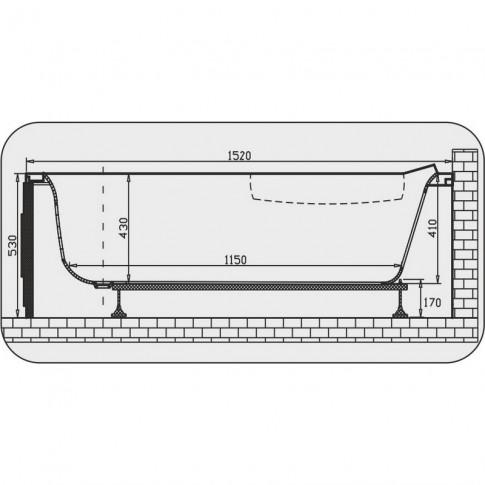 Cada baie cu hidromasaj asimetrica, pe colt, montaj pe dreapta, Aquamarine Nicole, acril, 150 x 100 cm