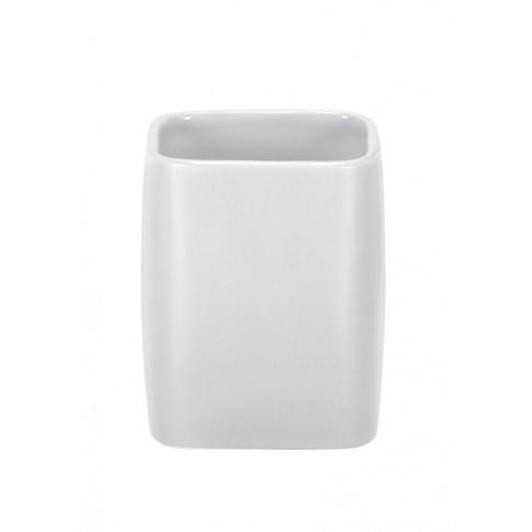Pahar baie pentru igiena personala, Kleine Wolke Cubic 34057, ceramica, alb, 2.9 x 11.1 cm