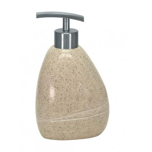 Dozator sapun lichid Kleine Wolke Stones 34161, ceramica, finisaj piatra, 300 ml