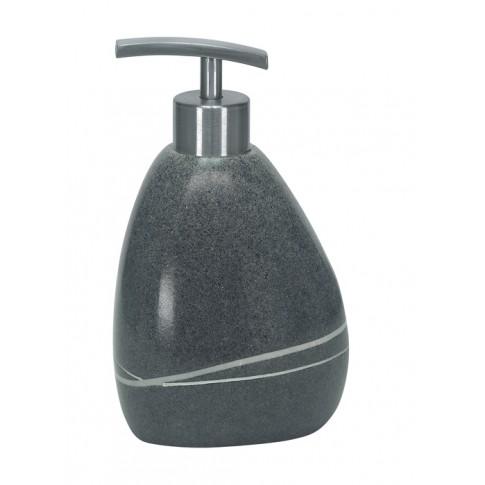 Dozator sapun lichid Kleine Wolke Stones 34165, ceramica, finisaj piatra, antracit, 300 ml