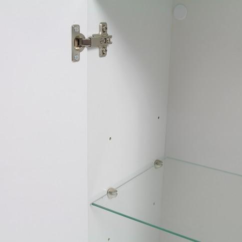 Dulap baie suspendat, Revo 383R - WL, 1 usa, bambus, 35 x 100 x 30 cm