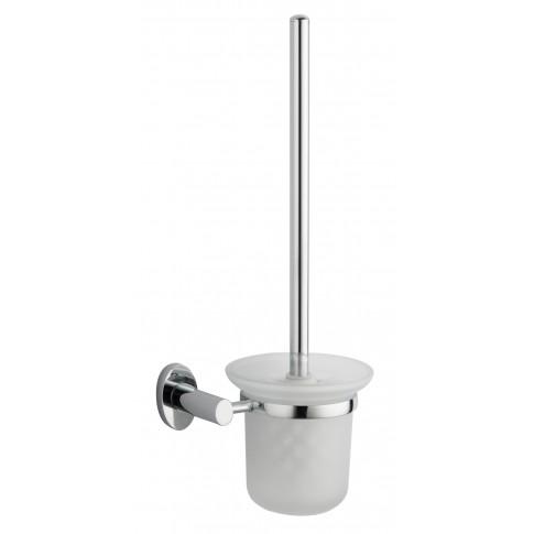 Perie WC Iobagno Perla AC1314, suspendat, metal + sticla mata, 48 x 21 x 13 cm