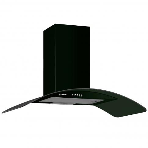 Hota decorativa Pyramis Elegant black, 246 mc/h, 1 motor, 138 W, latime 60 cm, negru