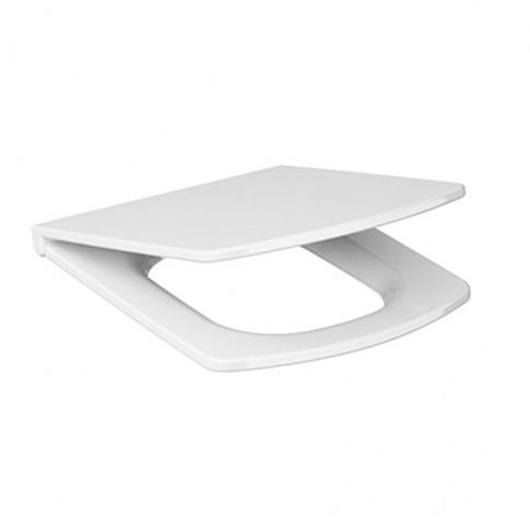 Capac WC din duroplast, Cersanit Easy K98 - 0090, alb, inchidere standard