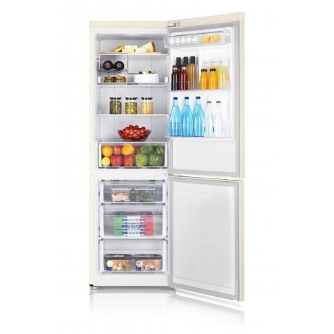 Combina frigorifica Samsung RB31FERNDEF, 310 l, Full No Frost, clasa A+, inaltime 185 cm, bej