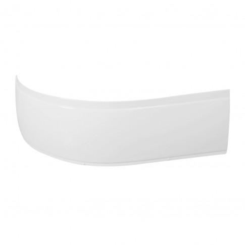 Cada baie asimetrica, pe colt, varianta montaj pe dreapta, West Artemide, masca si suport incluse, acril, 150 x 100 cm