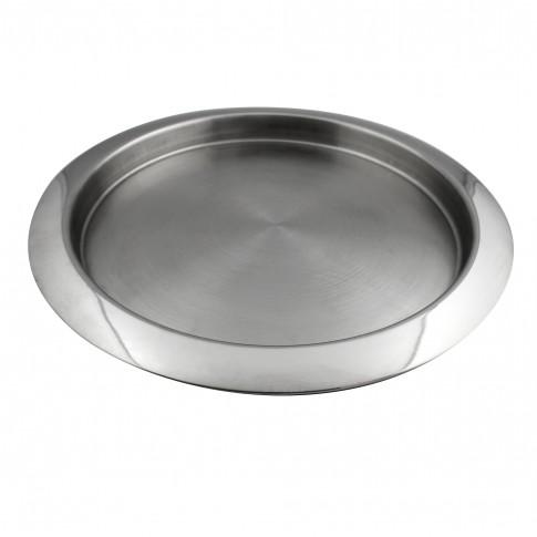 Tava rotunda pentru servire, din inox, Kasemi 1101425, 30 cm