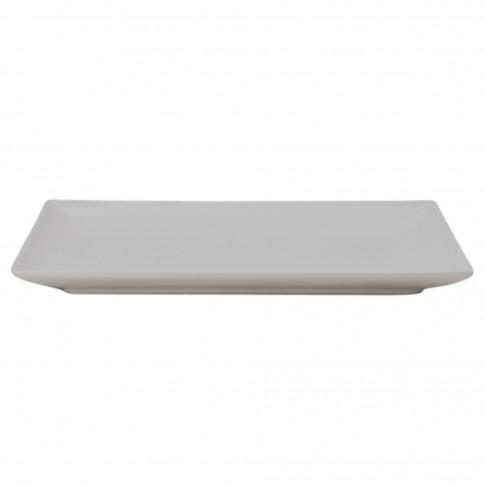 Platou Soler, forma dreptunghiulara, ceramica vitrificata, alb, 30 x 15 cm