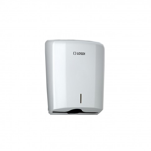 Dispenser hartie Losdi, alb, pentru prosoape pliate, plastic ABS, 28.5 x 27.5 x 13.5 cm
