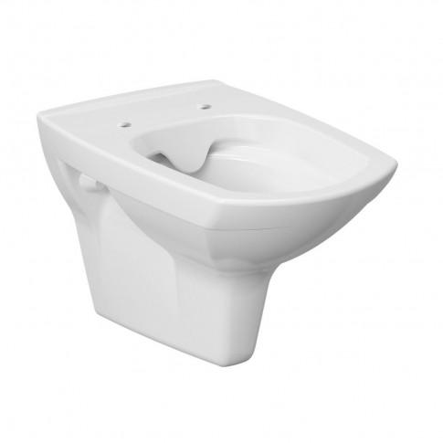 Vas WC suspendat Cersanit Carina Clean On K701-033, alb, capac inclus, evacuare orizontala